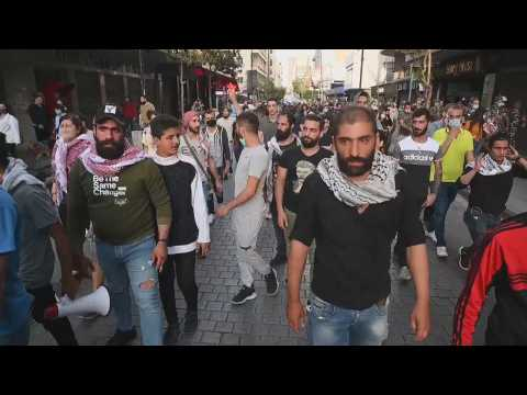 Protest in Beirut to demand the release of arrested activists