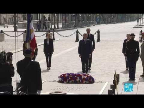 France marks 75th anniversary of Victory in Europe day amid coronavirus lockdown