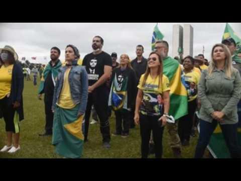 Bolsonaro supporters hold protest against COVID-19 quarantine measures