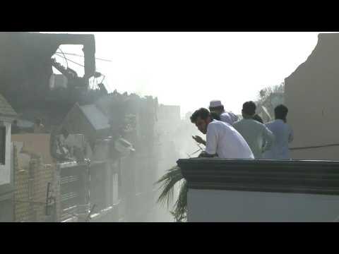 At least 40 dead in Pakistan plane crash