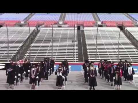 Dallas high schools hold graduation ceremonies at Texas Motor Speedway due to pandemic