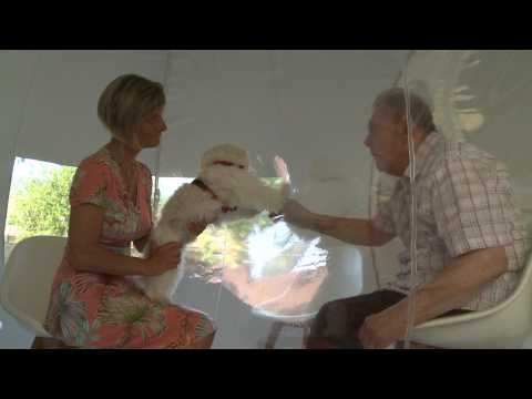French nursing home sets up 'bubble tent' for family visits