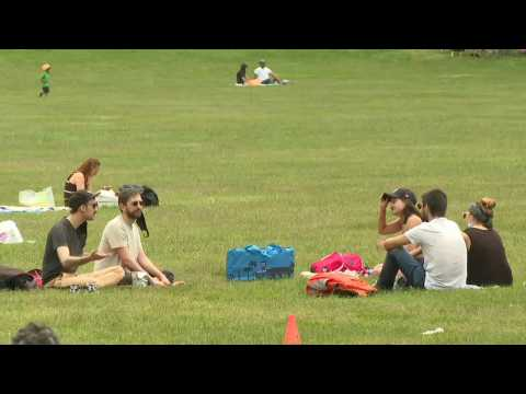 New Yorkers enjoy Memorial Day in Central Park while social distancing