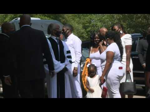 George Floyd's family arrives at church in Houston ahead of funeral service