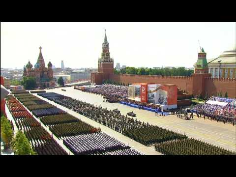 Russia holds grand WWII parade in Red Square ahead of vote on Putin reforms