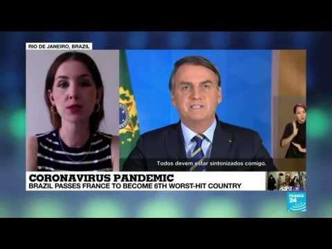 Brazil becomes 6th worst-Covid-19-hit country, passing France, as court demands Bolsonaro's test