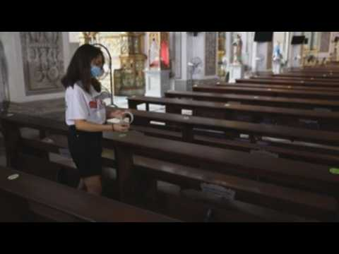 Churches in Philippines adopt physical distancing measures amid pandemic