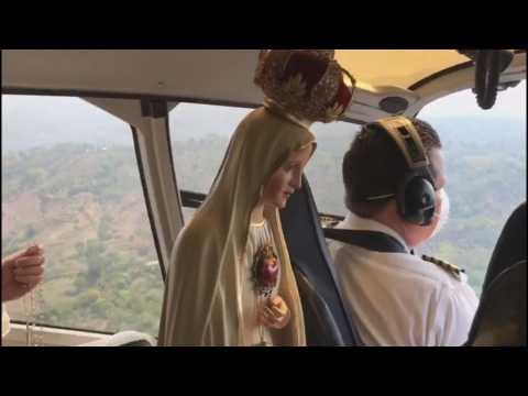 The Virgin of Fatima flies over El Salvador to bring peace to COVID-19