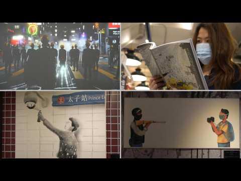 Taiwan exhibition showcases 2019 Hong Kong pro-democracy protests