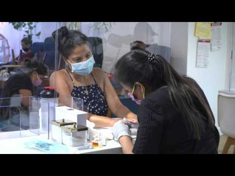 New Yorkers get their nails done as the city enters phase 3 of reopening