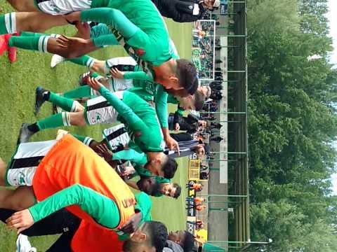 Football.Ambiance au x Francs Borains qui passent le premier tour.Video Eric Ghislain