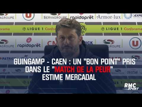 """Guingamp - Caen : Un """"bon point"""" pris dans le """"match de la peur"""" estime Mercadal"""