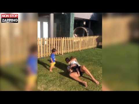 Cristiano Ronaldo papa gaga : Ses enfants sont fans de football (vidéo)