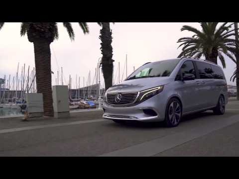 The new Mercedes-Benz Concept EQV Driving Video