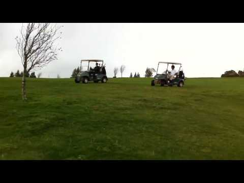 Golf carts race ends badly
