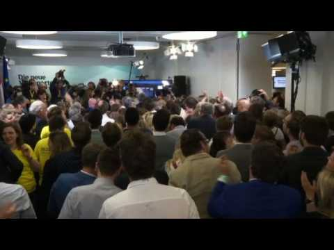Austria's OPV supporters react to first EU election results