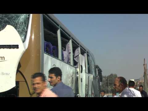 Bombing hits tourist bus near Egypt pyramids