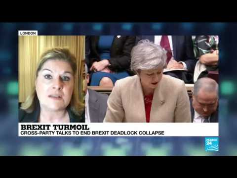 Brexit turmoil: cross-party talks to end Brexit deadlock collapse