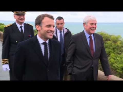 Macron visits Biarritz to prepare for G7 summit in August