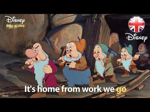 DISNEY SING-ALONGS | Heigh Ho  -  Snow White Lyric Video! | Official Disney UK