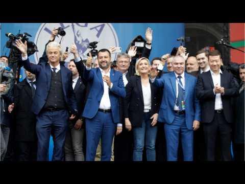 Far-Right Rallies Held In Milan Ahead Of EU Parliamentary Vote