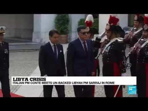 Libya crisis: Italian PM Conte meets UN-backed Libyan PM in Rome