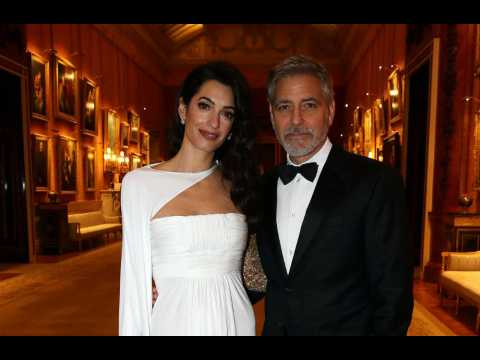 George Clooney's twins can do ABCs in Italian and English