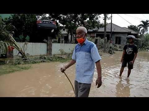 Deadly flooding hits Indonesia's Sumatra island
