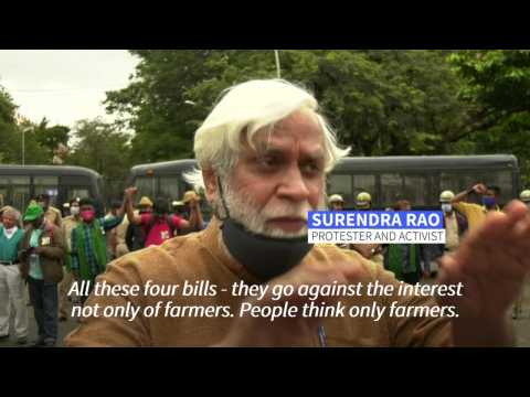 India's workers join farmers in national protests