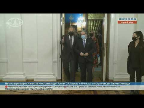 Russian Foreign minister Lavrov hosts Syrian counterpart Mekdad