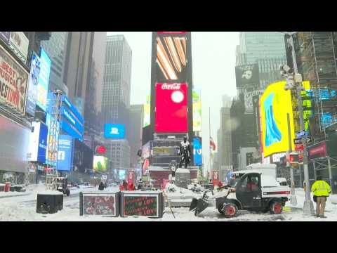 US: Snow blankets New York as winter storm hits East Coast