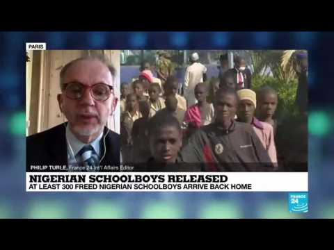 Freed Nigerian schoolboys arrive back home a week after abduction
