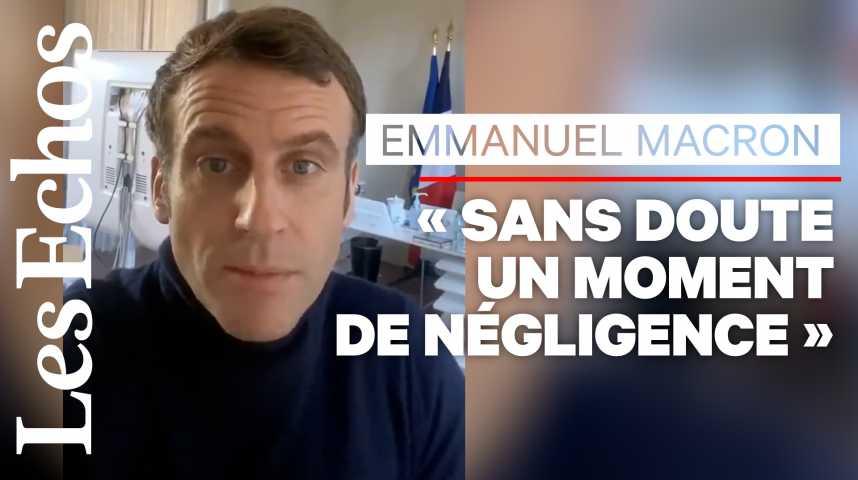 Illustration pour la vidéo «Je vais bien», affirme Emmanuel Macron dans une vidéo