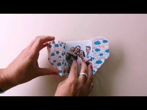 Make your own origami heart card