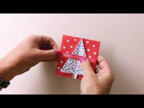 Make your own origami Christmas card