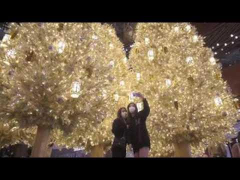 Christmas displays cheer up Hong Kong despite Covid-19 fourth wave