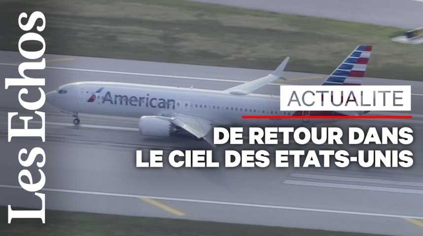 Illustration pour la vidéo Le Boeing 737 MAX retrouve le ciel des États-Unis après 20 mois au sol