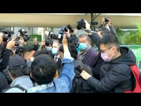 Hong Kong media tycoon Jimmy Lai arrives at court to face appeal against bail
