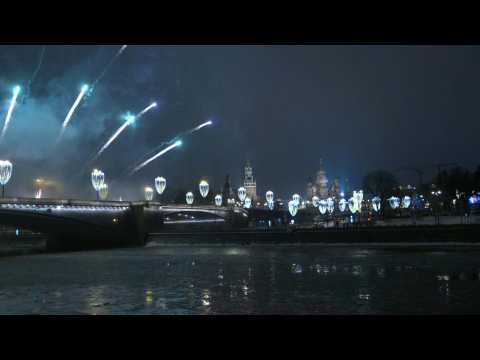 Fireworks over Red Square in Moscow