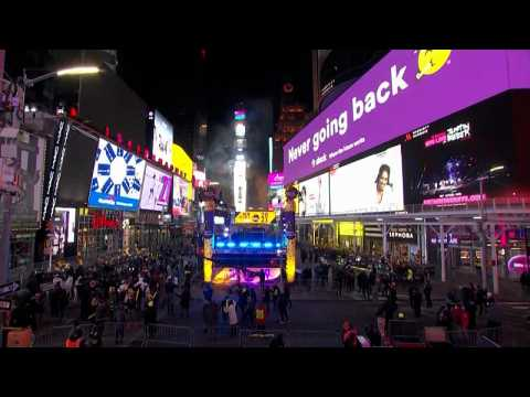 New York 2021: Times Square's famous ball drop brings in the New Year