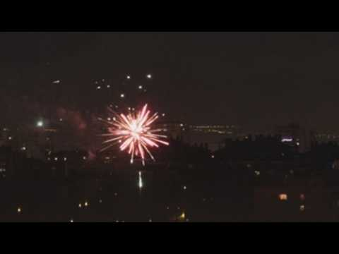 Madrid welcomes New Year with firework display