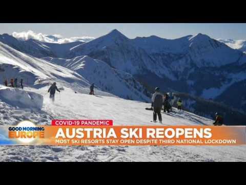 Ski resorts remain open in Austria despite third national lockdown