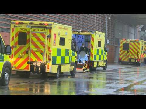 Scene outside London hospital as UK registers record daily Covid-19 deaths