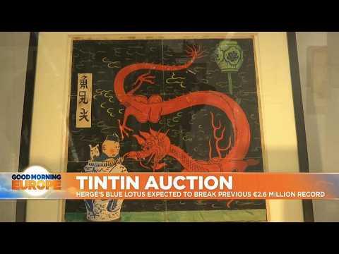 Tin Tin artwork expected to raise more than 2.6m euros at Paris auction