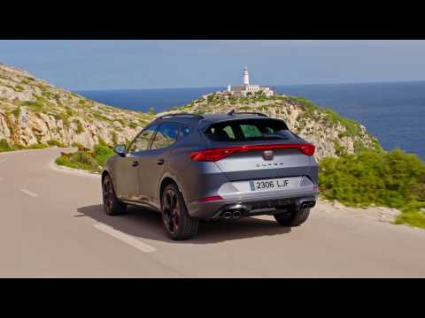 The new CUPRA Formentor in Petrol Blue Driving Video