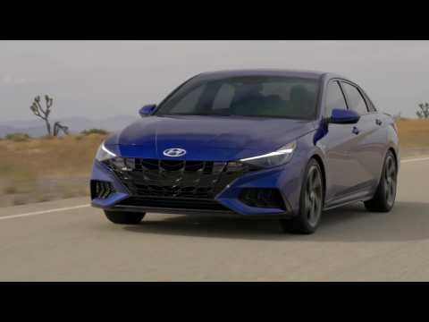 2021 Hyundai Elantra N Line Driving Video