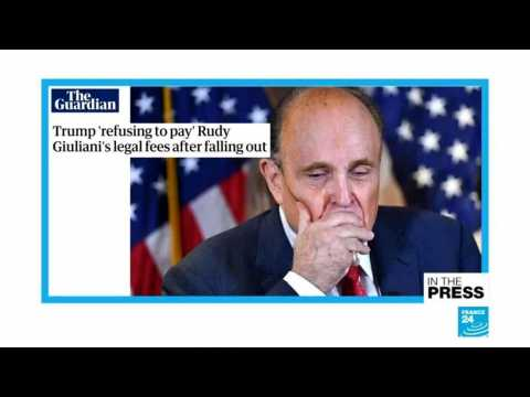 Trump 'refusing to pay' Giuliani's legal fees after apparent falling out