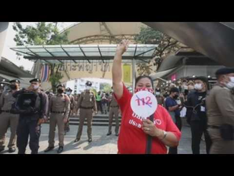 Thais protest lese majeste charges in Bangkok