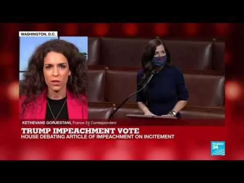 Trump impeachment vote: President accused of inciting attack on Capitol