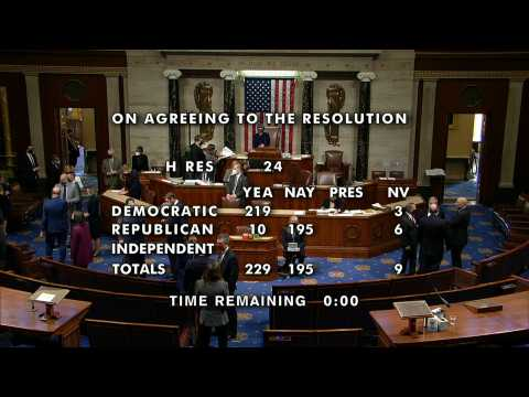 Majority of US House votes to impeach Trump